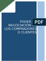 PODER DE NEGOCIACION DE LOS COMPRADORES O CLIENTES (1).docx
