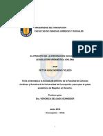 EL PRINCIPIO DE LA INTEGRACIÓN SOCIAL EN LA LEGISLACIÓN URBANÍSTICA CHILENA