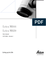 Leica M-844,M-820 Surgical Microscope - User Manual