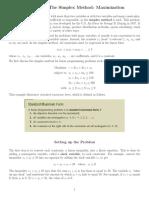Explaination Simplex Method