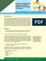 Prevencion de Riesgos en La Ensenanza Infantil y Actividades Relacionadas Con La Infancia