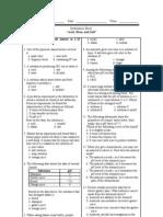 Acid, Base, Salt Evaluation