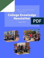 sechs college knowledge newsletter