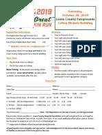 The Great Pumpkin Run Registration Form 2019