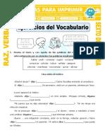 Ejercicios Del Vocabulario Para Sexto de Primaria