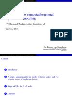 Introduction to Computable General Equilibrium Modeling Renger Van Nieuwkoop