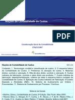 NOÇÕES CONTABILIDADE DE CUSTO