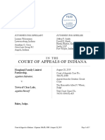 Hoagland Family Ltd. P'ship v. Town of Clear Lake, No. 18A-PL-2088 (ind. Ct. App. Aug. 28, 2019)
