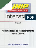 SLIDES ADM DO RELACIONAMENTO COM O CLIENTE - UNIDADE I