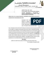 Justifico Inasistencia a Declaracion y Solicito Reprogramacion de Fecha y Hora Para Declaracion Testimoniall - Christian Velasquez Diaz