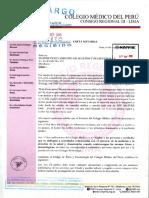 Carta Notarial del Colegio Médico por servicio Mapfre Doc