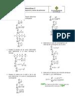 Taller # 7. Matemáticas II. Criterios de Convergencia y Series de Potencias