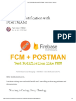 Test FCM Notification With POSTMAN! - Android School - Medium