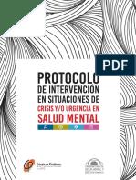 Protocolo de Atención en Situaciones de Crisis y o Urgencia en Salud Mental