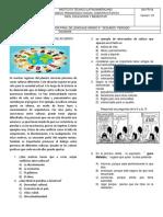 Evaluación de Español Grado 5º 2P