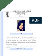 Hoja de Vida Abgogada Maria Fernanda Marquez