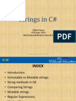 C# Lecture 5-Strings