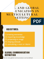 Global and Multicultural Literacy