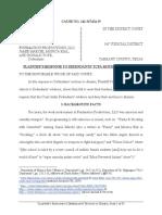 PLAINTIFF'S RESPONSE TO DEFENDANTS' TCPA MOTIONS TO DISMISS - Vic Migogna Defamation Lawsuit