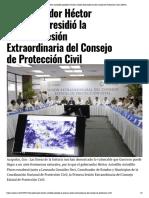 13-07-2019 El gobernador Héctor Astudillo presidió la Primera Sesión Extraordinaria del Consejo de Protección Civil.