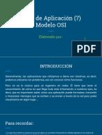Modelo OSI- Capa 7