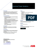 CHP102 – Protection for Electrical Power Systems - Fundamentals
