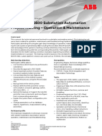 CHP123 – SAS600 Substation Automation Project Training - Operation & Maintenance