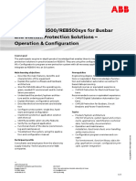 CHP153 – REB500-REB500sys for Busbar and Station Protection Solutions - Operation & Configuration