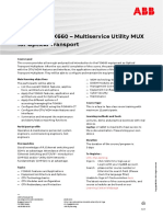 CHP571 – FOX660 - Multiservice Utility MUX for Optical Transport