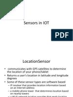 Sensors in IOT