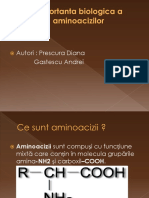 Importanta Biologica a Aminoacizilor22.