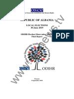 Raporti ekskluziv/ Zbardhen vërejtjet e plota të OSBE/ODIHR për votimet e 30 qershorit