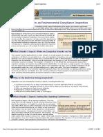 Illinois EPA Environmental Compliance Inspection