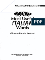 2001 Most Useful Italian Words