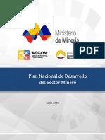 PLAN NACIONAL DEL SETOR MINERO