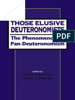 [Journal for the Study of the Old Testament Supplement Series 268] Linda S. Schearing, Steven L. McKenzie - Those Elusive Deuteronomists_ the Phenomenon of Pan-Deuteronomism (JSOT Supplement Series) (1999, Sheffield Academic Press