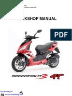 Peugeot Speedfight 3 50-4T-2V Workshop Manual