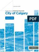 Calgary Monthly Stats for August 2019