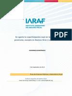 Informe Coparticipación de Agosto - IARAF