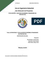 VALORACIÓN ECONÓMICA FINANCIERA DE PROYECTOS