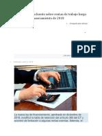 Retención en La Fuente Sobre Rentas de Trabajo Luego de La Ley de Financiamiento de 2018