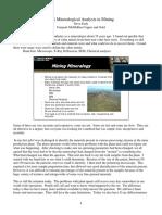 NIR Mineralogical Analysis in Mining