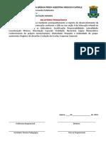 Modelo de Relatório Pedagógico