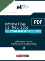 Informe Ejecutivo Resultados Evaluación EPS 2013-2015