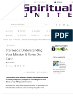 Starseeds_ Understanding Your Mission & Roles on Earth - Spiritual Unite