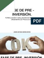2- FORMULACIÓN Y EVALUACIÓN DE PROYECTOS 8ESTUDIOS DE PRE FACTIBILIDAD Y FACTIBILIDAD)