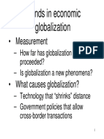 Trends in Economic Globalization