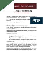 Las 5 Reglas Del Trading