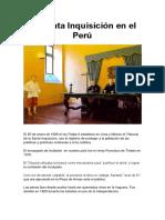 La Santa Inquisición en El Perú