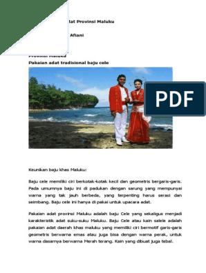 Tugas Pakaian Adat Provinsi Maluku